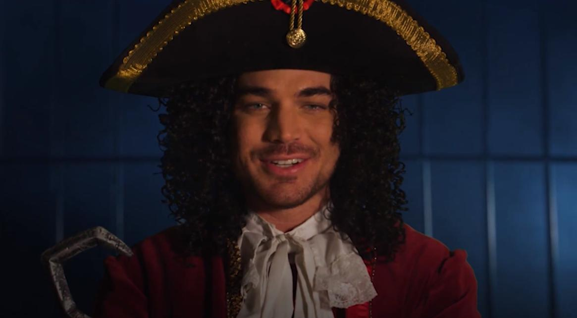 "Adam Lambert as Captain Hook, ""The Bandleader"""