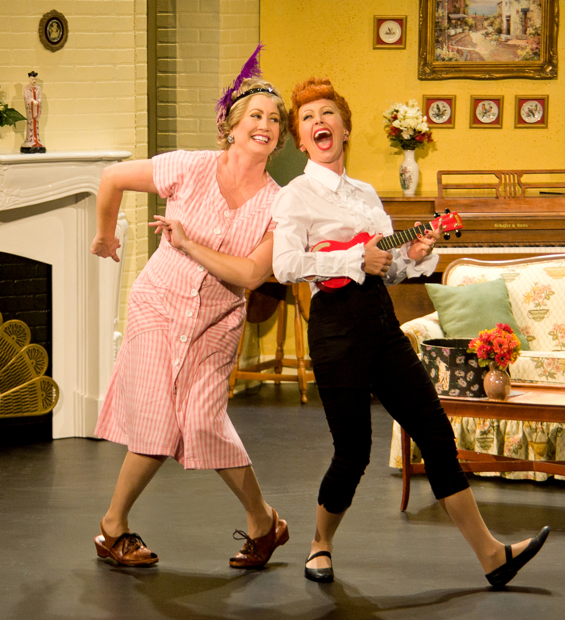 Joanna Daniels as Ethel and Sirena Irwin as Lucy in I LOVE LUCY® LIVE ON STAGE. Photo by JustinBarbin.com)